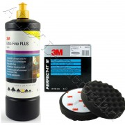 3M 80349 Perfect-it III Extra Fine Schleifpaste 1Liter + 3M 09378 Polierschwamm 150mm
